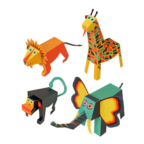 Jungle Animals Paper Toys