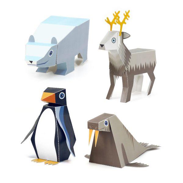 Ice Animals Paper Toys