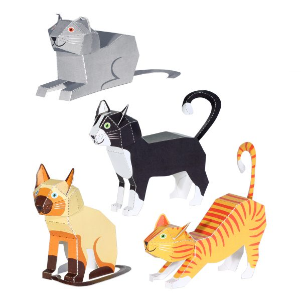 Cats Paper Toys