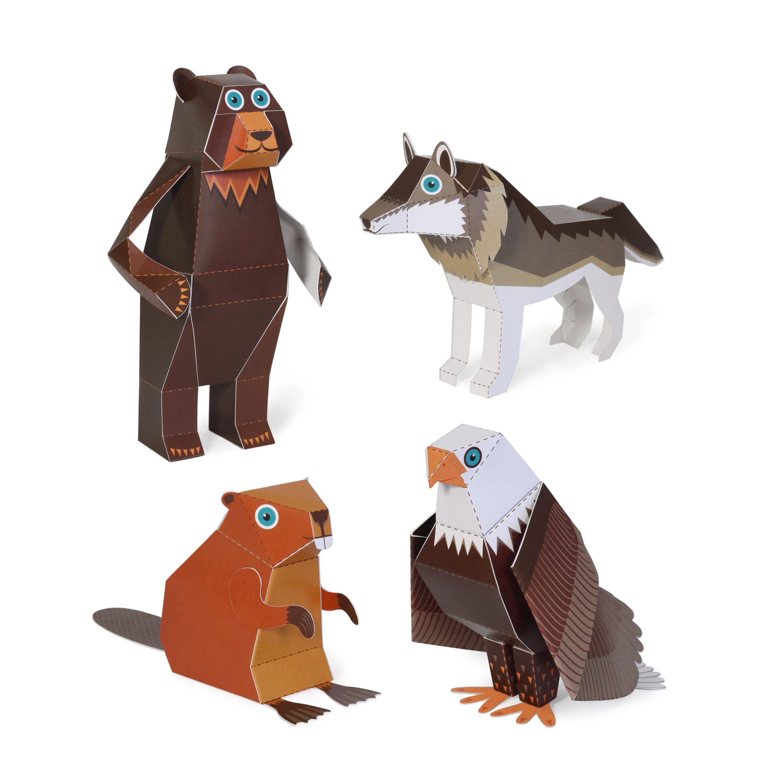 Woodland Animals Paper Toys