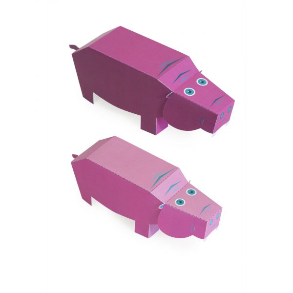 Maxi Hippo Paper Toys