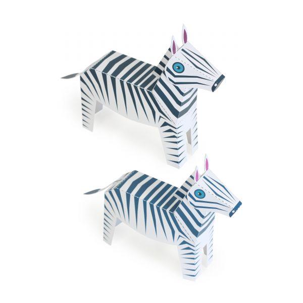 Maxi Zebra Paper Toys