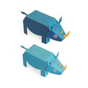 Maxi Rhino Paper Toys