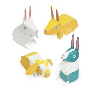 Rabbits Paper Toys