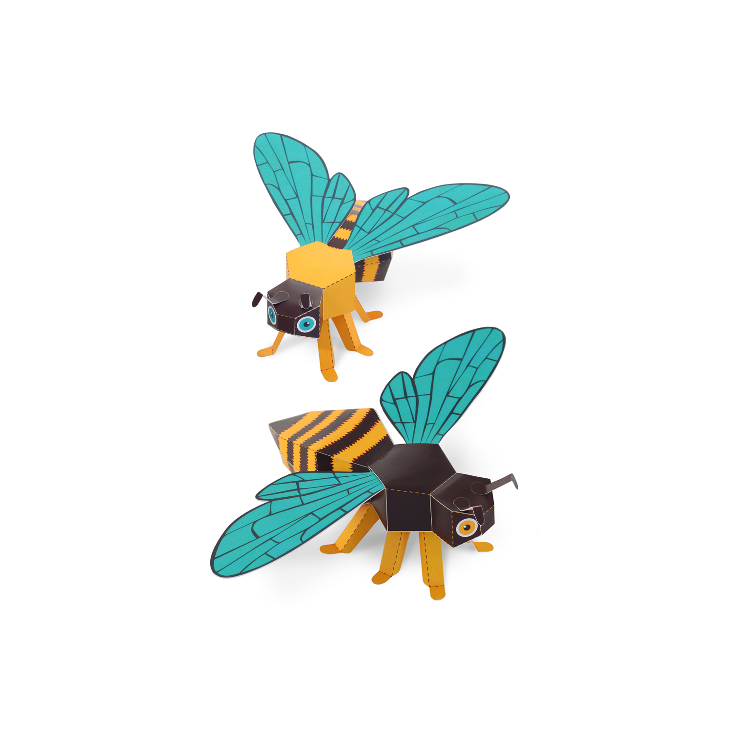 Honey Bees Paper Toys