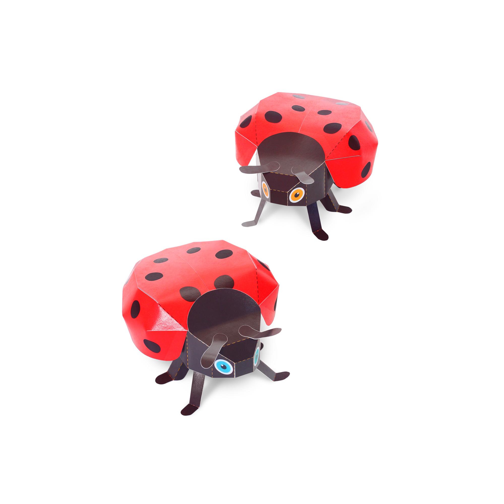 Ladybugs Paper Toys