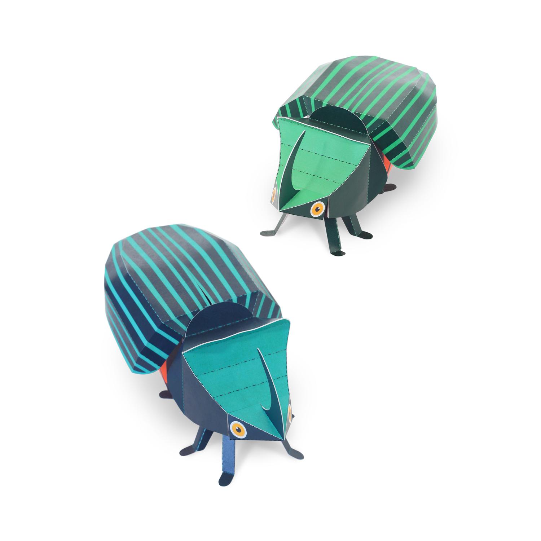 Rhinoceros Beetles Paper Toys