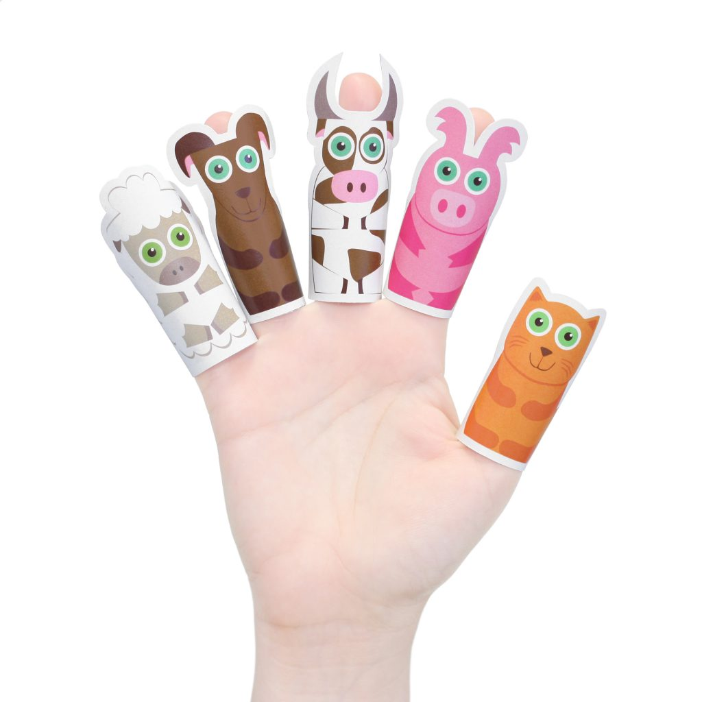 Animals Paper Finger Puppets