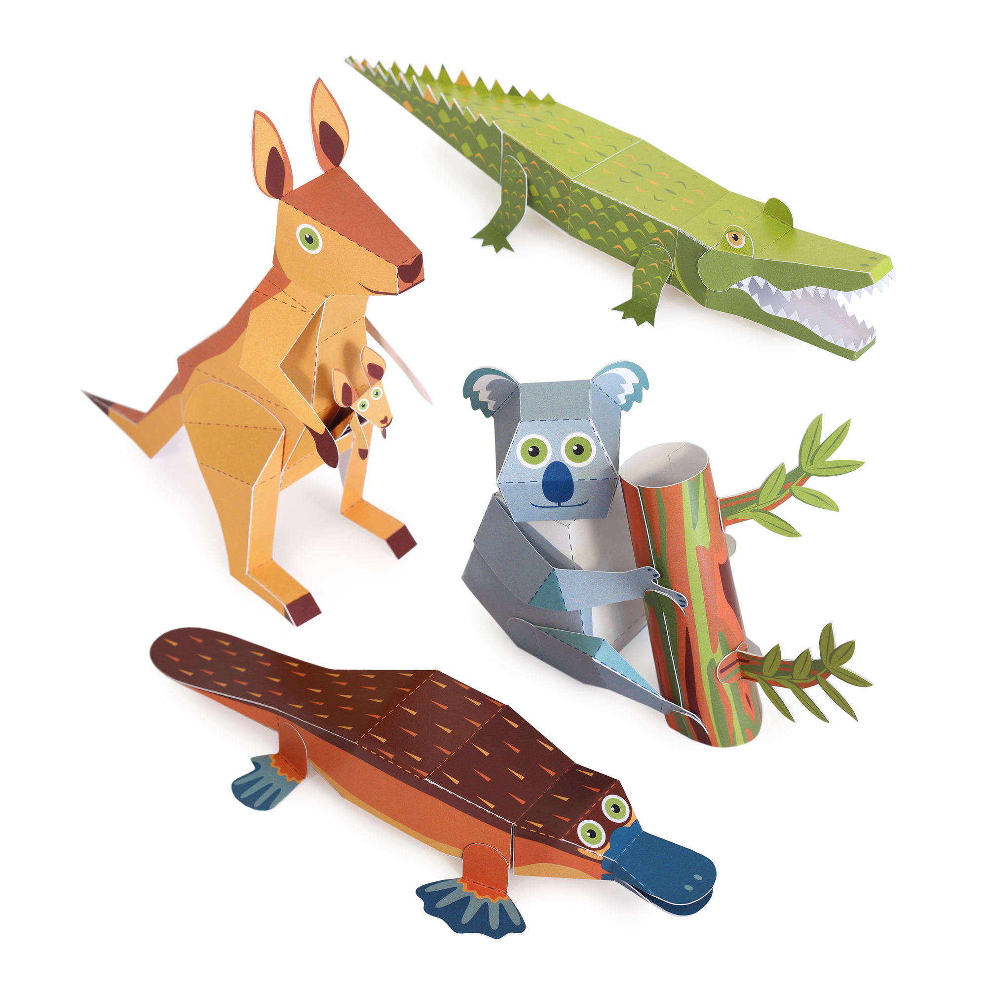 Australian Animals Paper Toys
