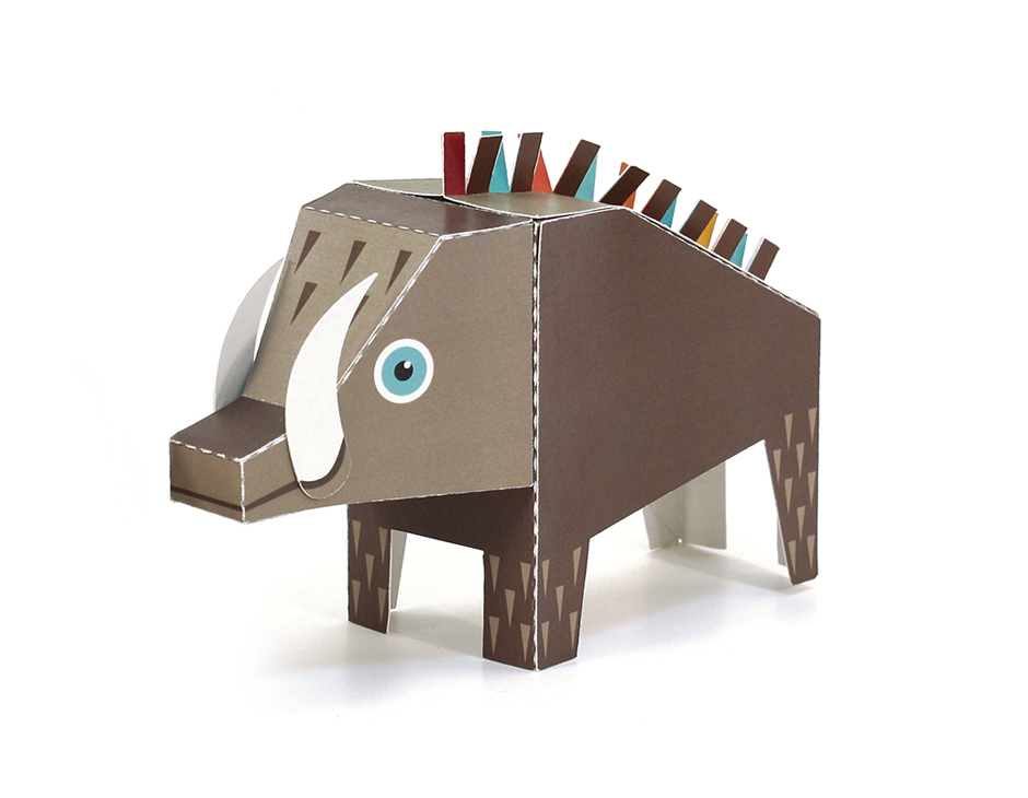 Forest Animals Paper Toys