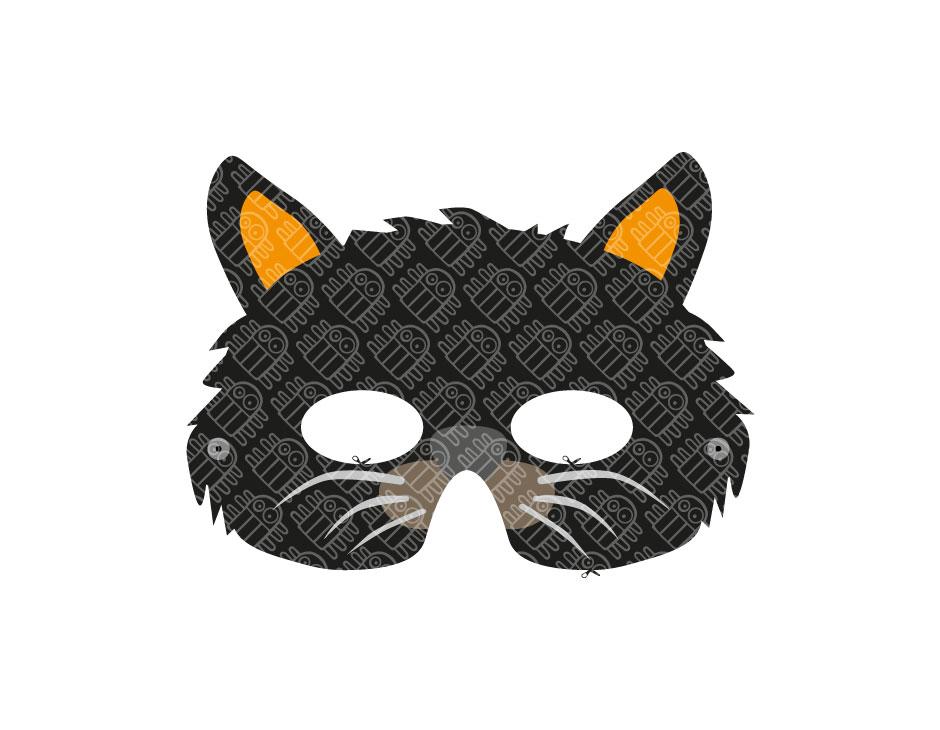 Black Cat Paper Mask PRINTABLE PDF