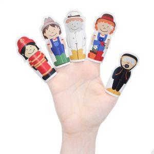 Jobs Paper Finger Puppets