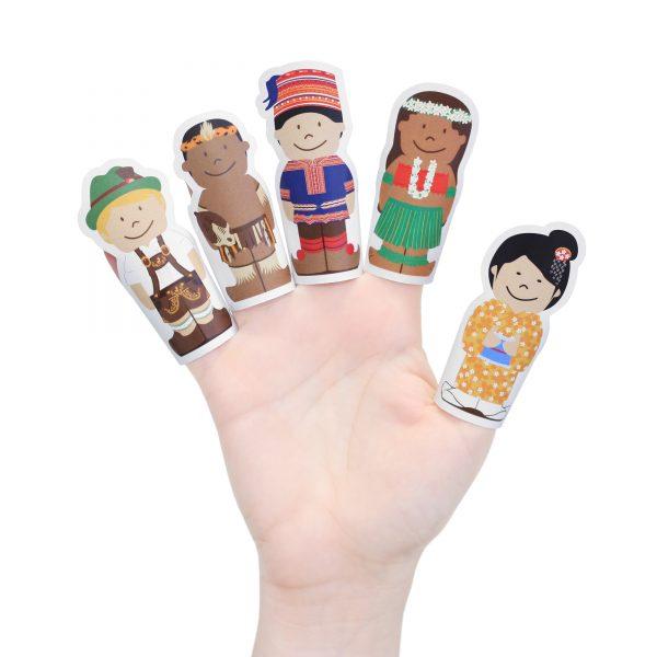 Children of the World Paper Finger Puppets
