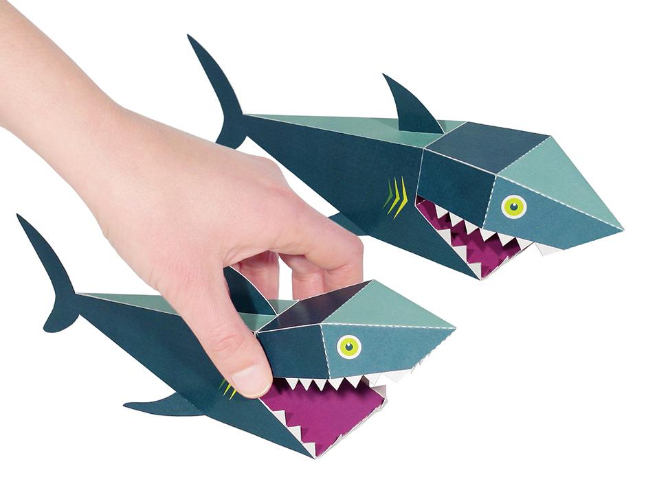 Shark Paper Toy : Sea animals paper toys pukaca