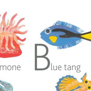 MARINE ANIMALS English Alphabet Poster