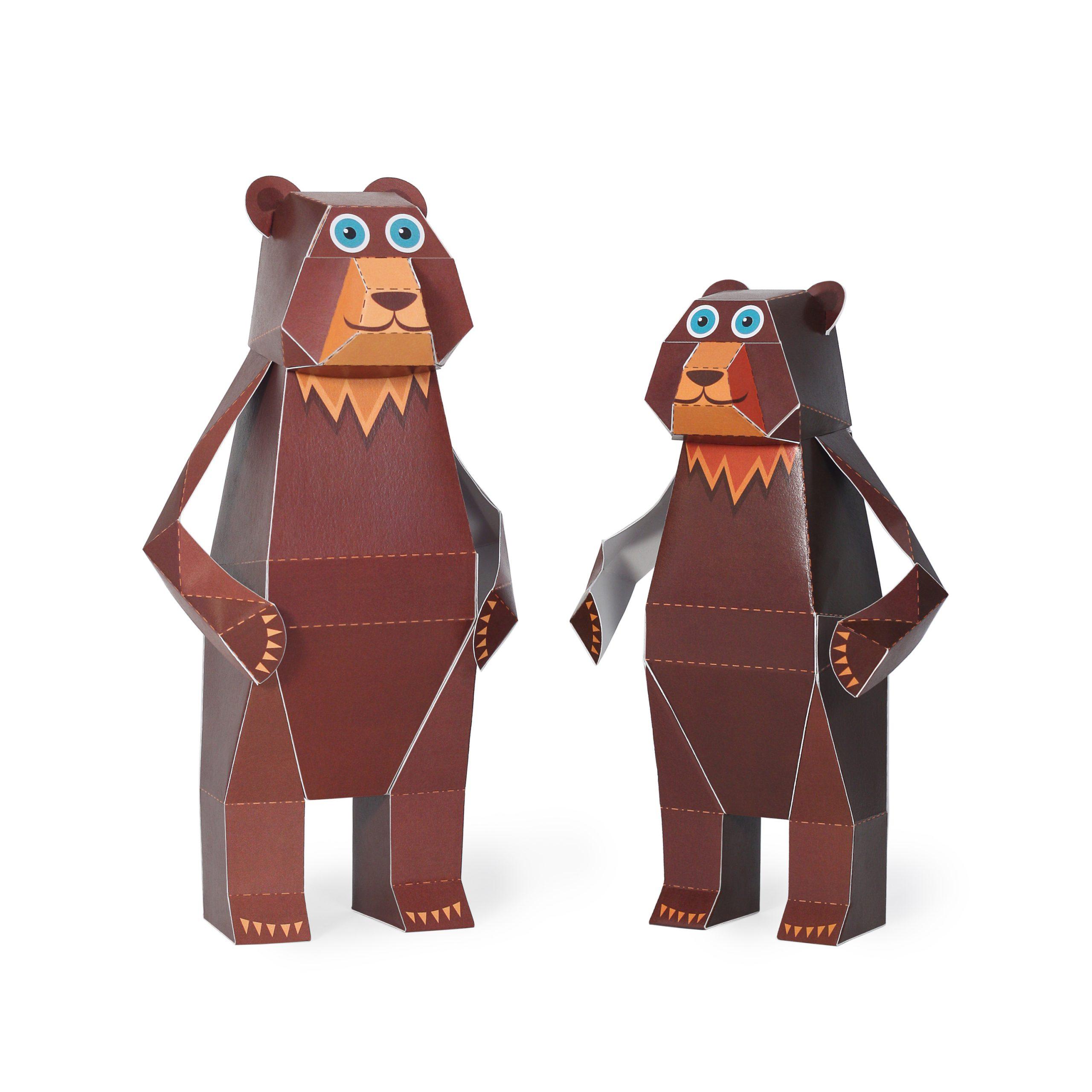 Maxi Bear Paper Toys