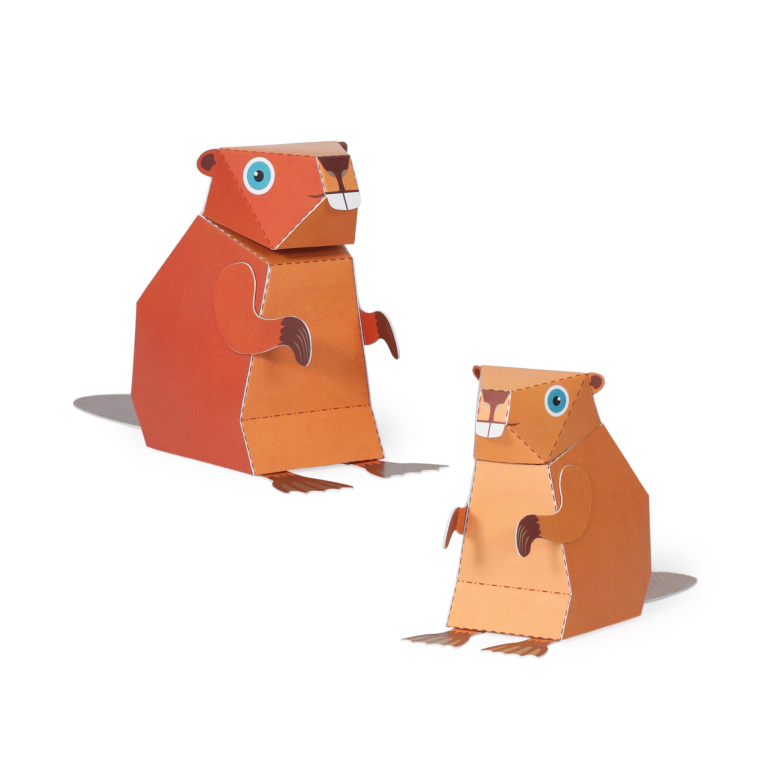 Maxi Beaver Paper Toys