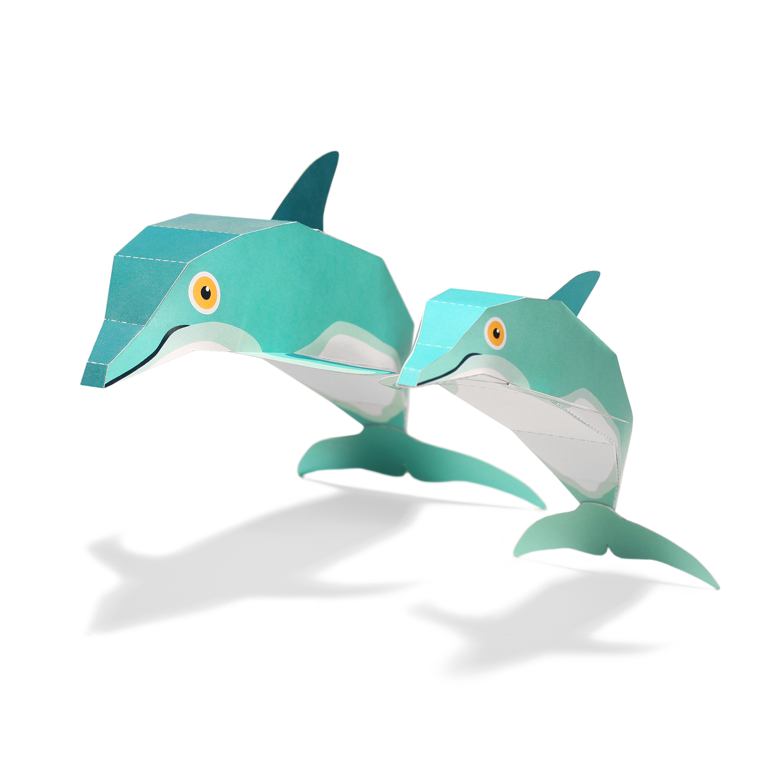 Maxi Dolphin Paper Toys