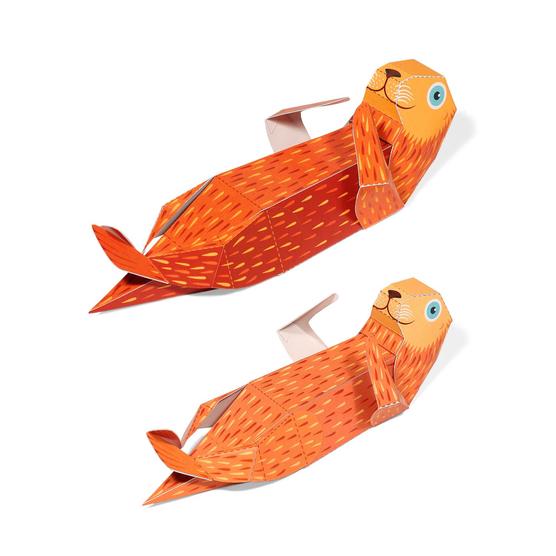 Maxi Marine Otter Paper Toys