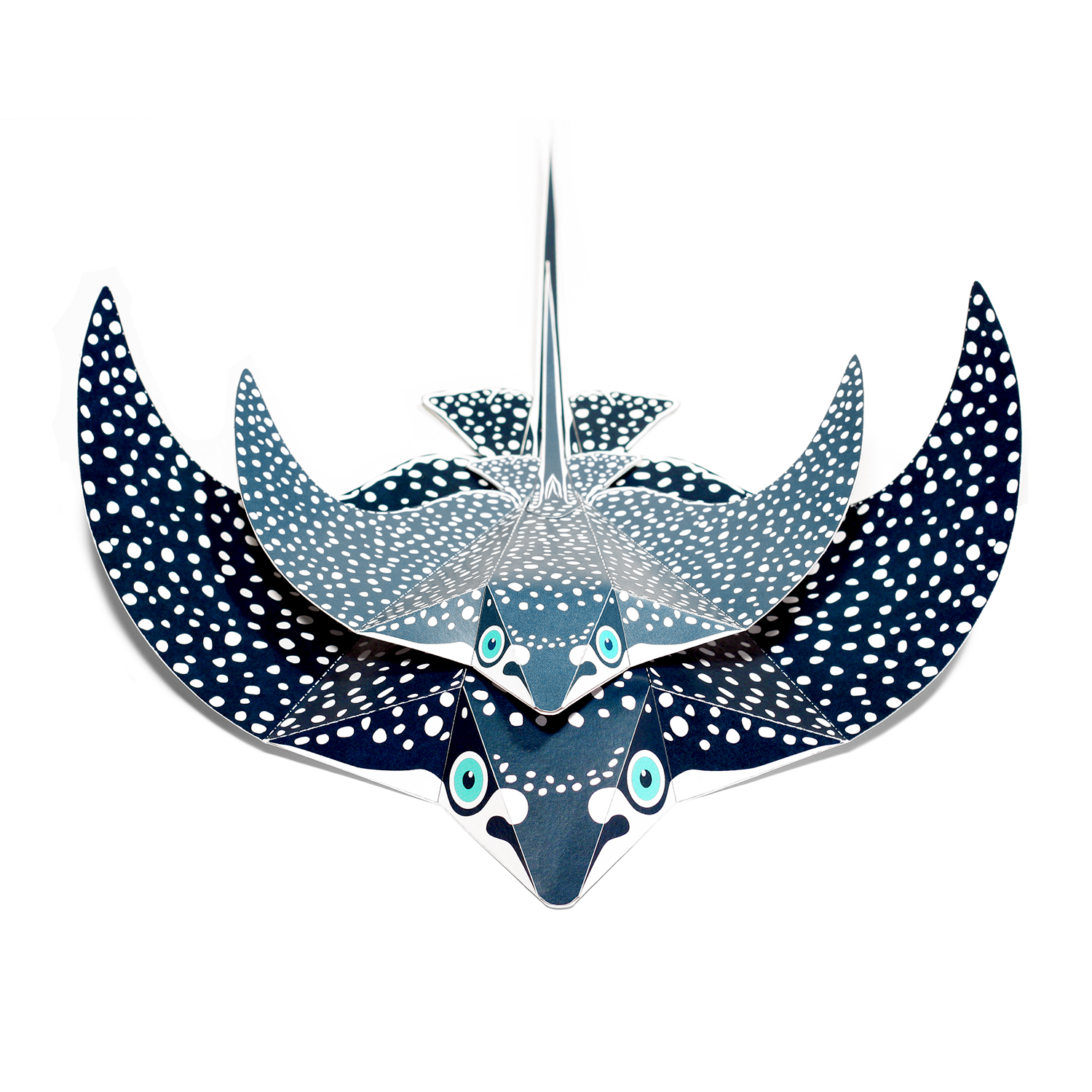 Maxi Spotted Eagle Ray Paper Toys