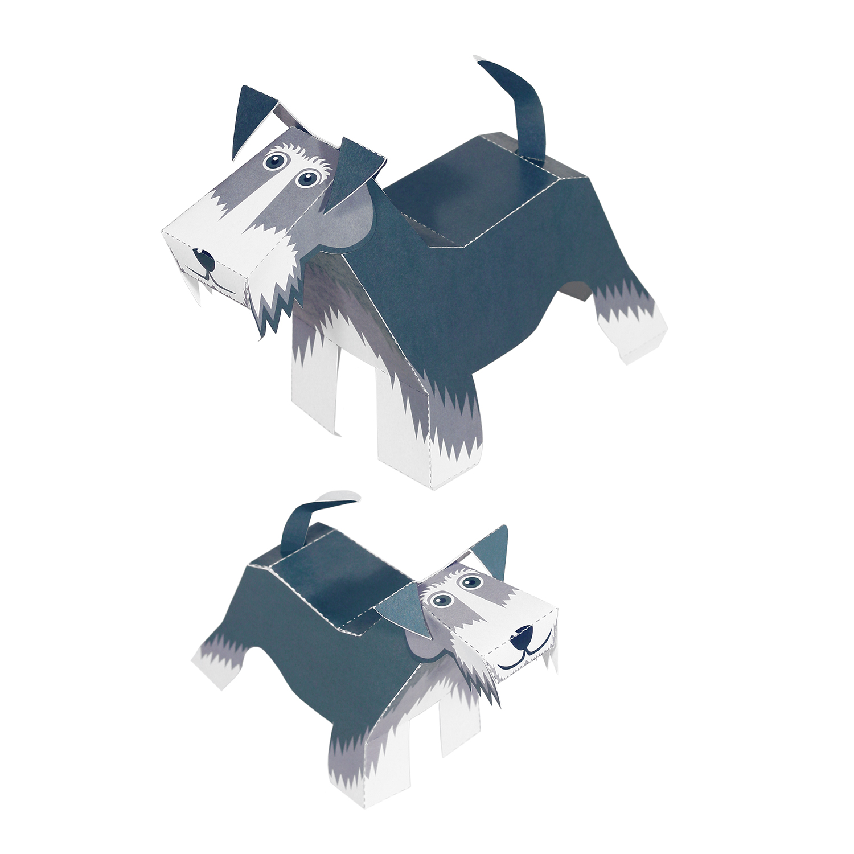 Maxi Schnauzer Paper Toys