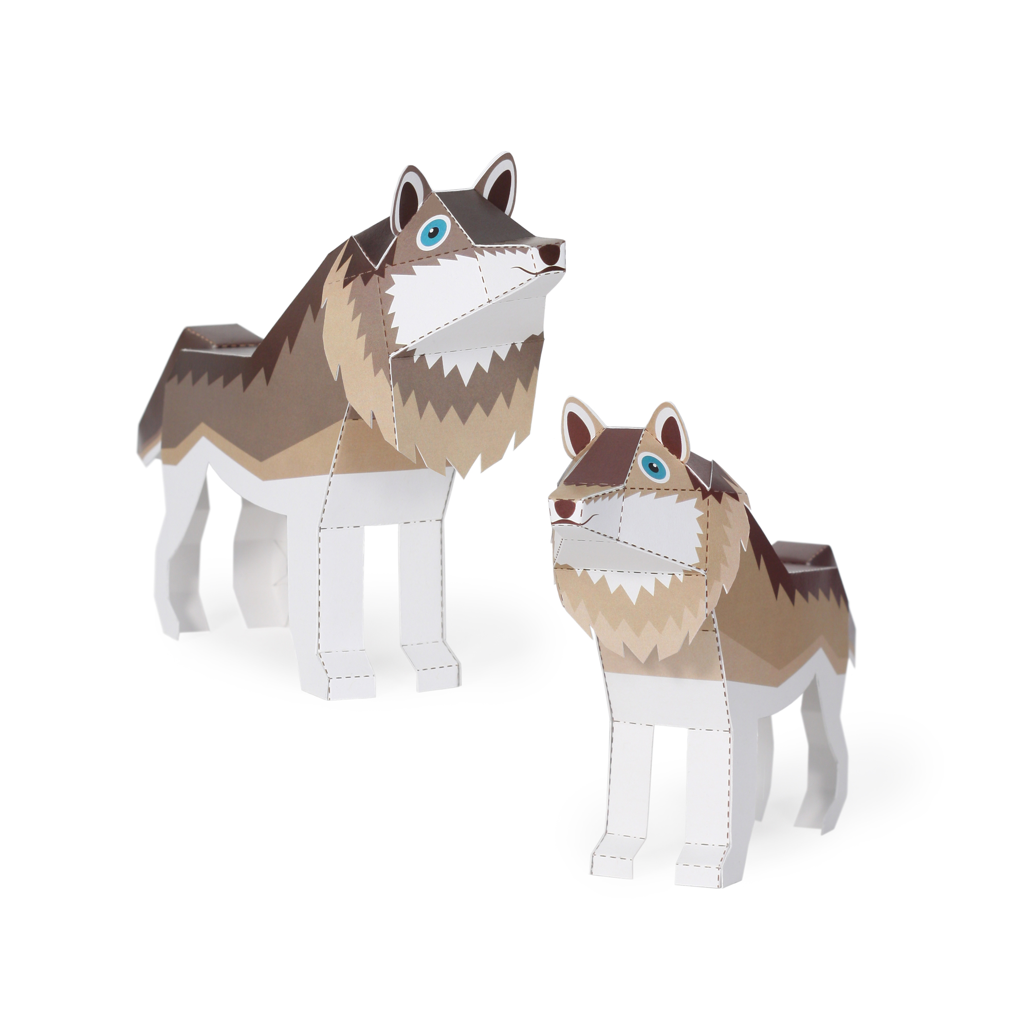 Maxi Wolf Paper Toys