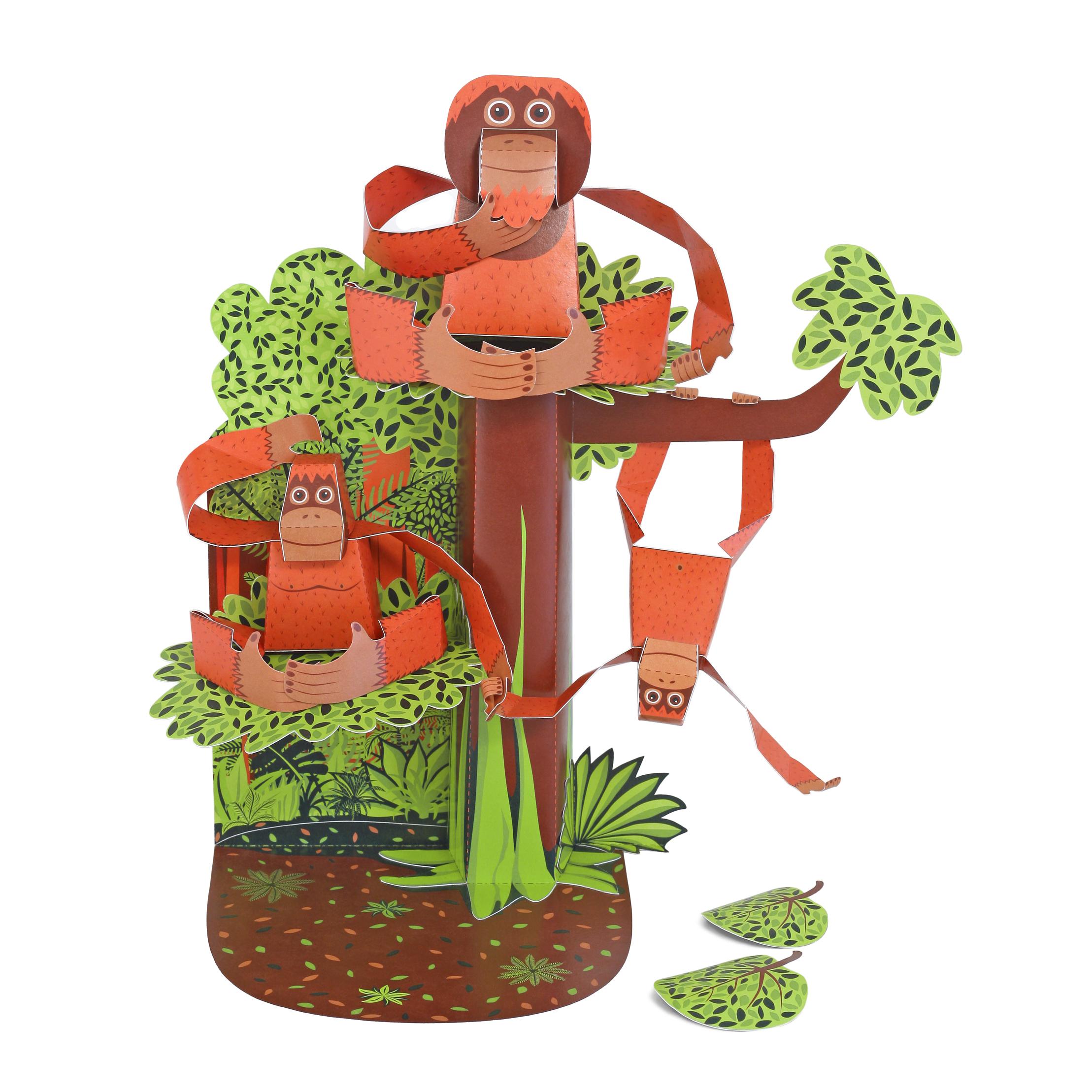 Orangutans Paper Toy