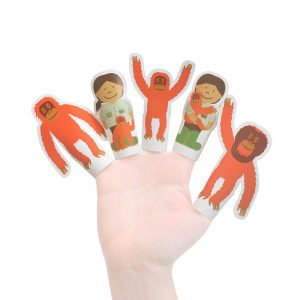 Orangutans Paper Finger Puppets