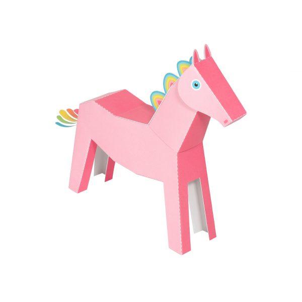 Pink Pegacorn Paper Toy