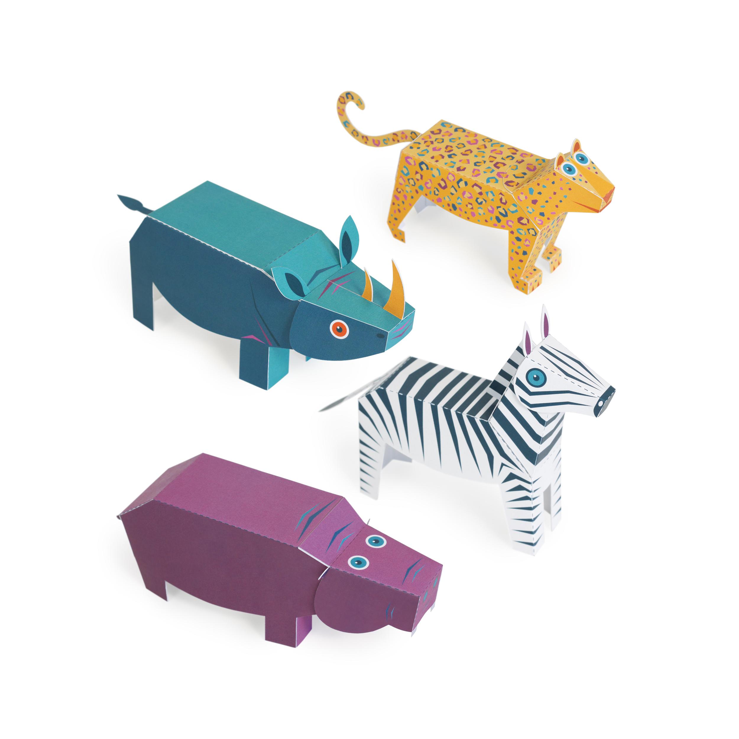Savannah Animals Paper Toys